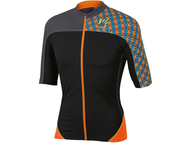 Karpos Teck Evo Jersey Herren orange fluo/black